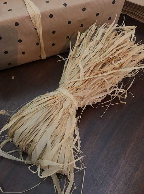 Recyclable natural Raffia