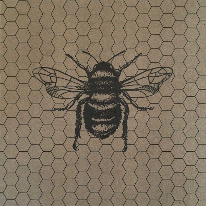 Bumble bee card detail