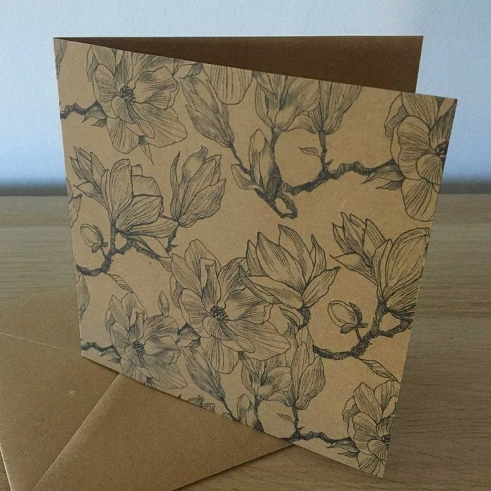 Eco friendly greetings card Magnolia