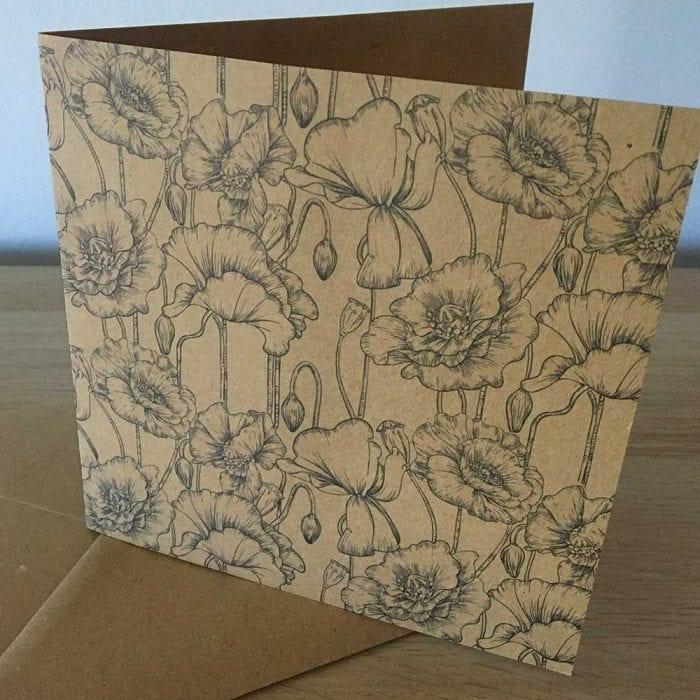 Eco friendly Poppy greeting card
