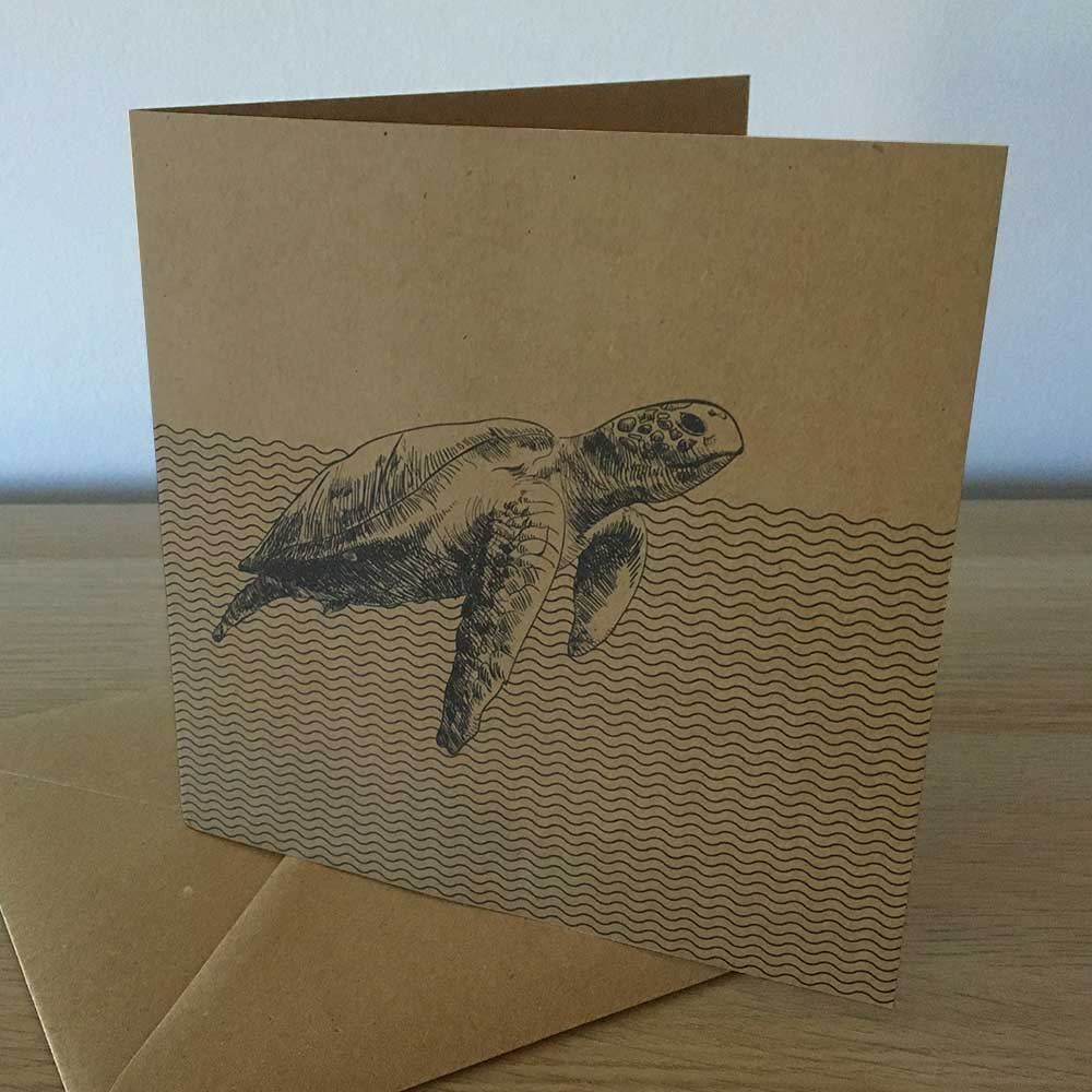 Recycled Greetings Cards Turtle