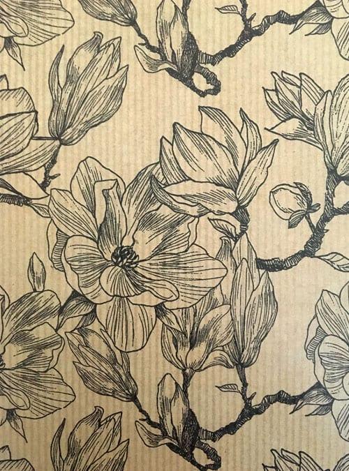 Magnolia gift wrap detail
