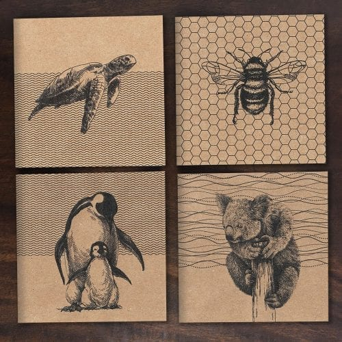 Recycled Greetings Cards mixed pack